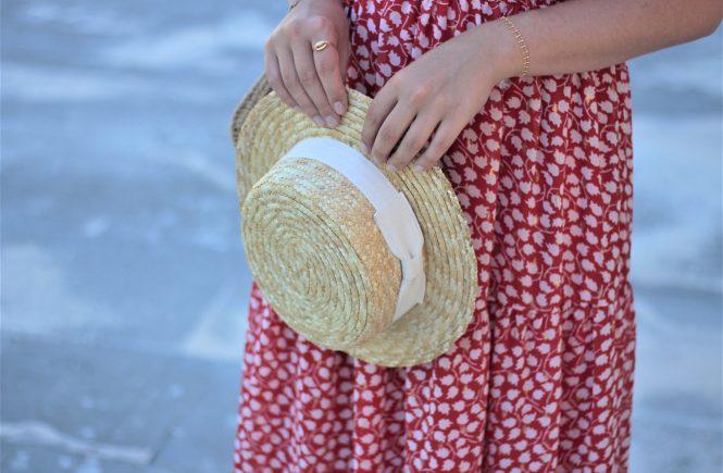 Chapeau canotier de la marque Bon clic bon genre - Aunatur-elle, blogueuse bordelaise