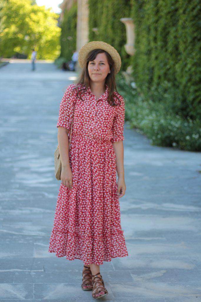 Chapeau de paille style canotier de la marque Bon clic bon genre - Aunatur-elle, blogueuse mode