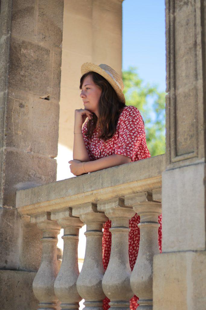 Mon premier canotier - look au jardin public de Bordeaux - Aunatur-elle