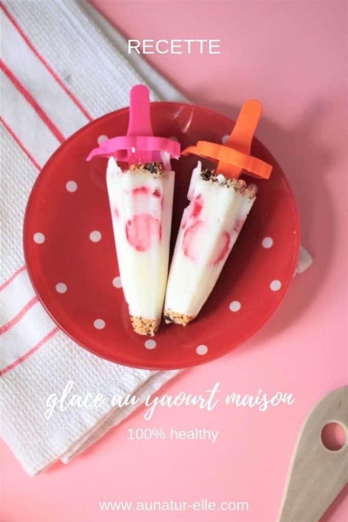 Recette de frozen yogurt healthy fait maison. #frozenyogurt #yaourtglace #recettehealthy #glacehealthy #glacefaitmaison #recetteglace