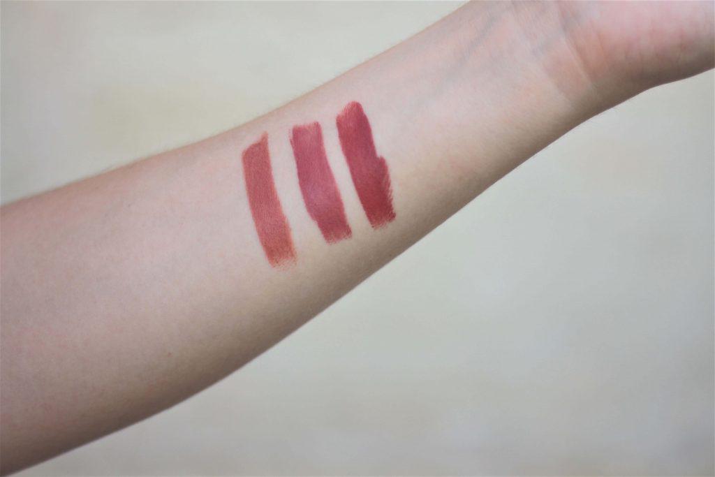 Swatchs des rouges à lèvres naturels & bio, Charlotte makeup bio. Aunatur-elle, blog beauté naturelle et bio à Bordeaux