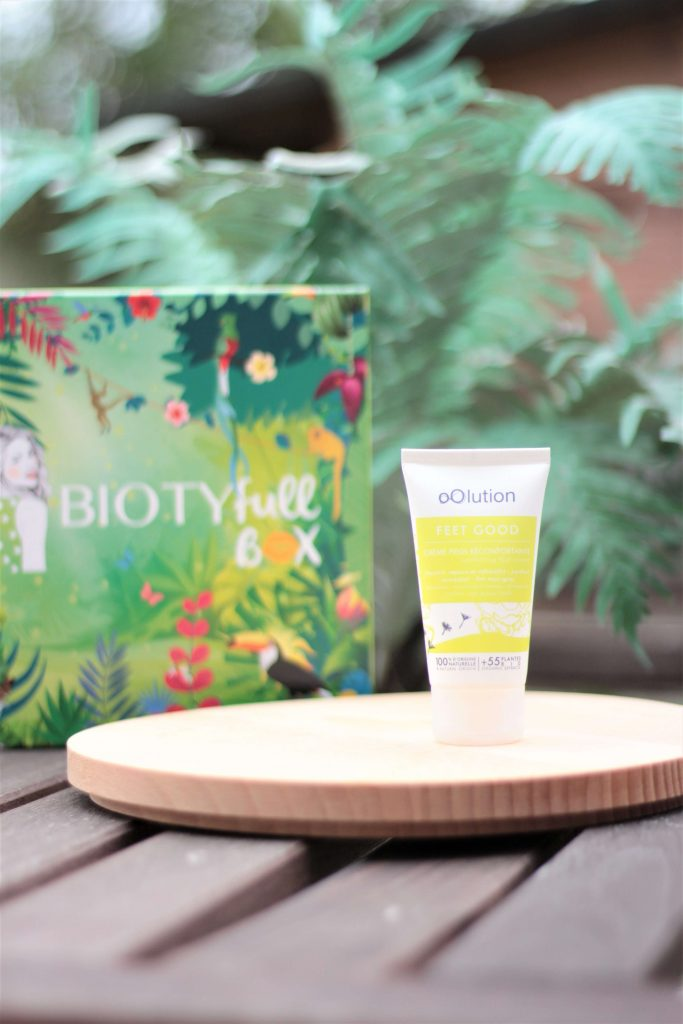 Crème pieds réconfortante - oolution. Biotyfull box d'août 2019, la réparatrice. Aunatur-elle, blog beauté naturel