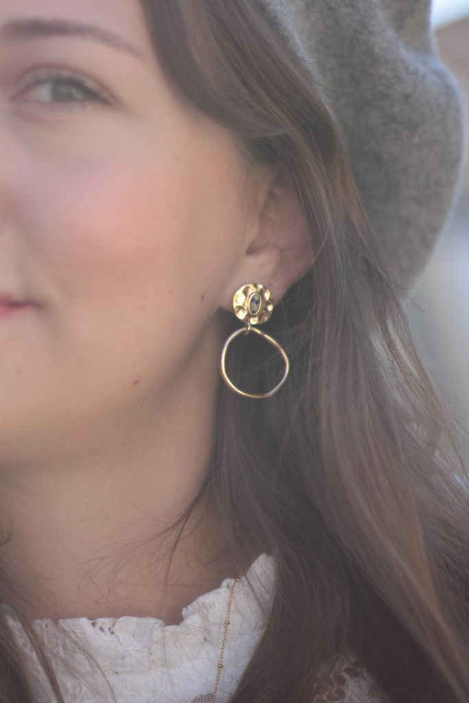 Boucles d'oreilles adopt parfum bordeaux - Aunatur-elle
