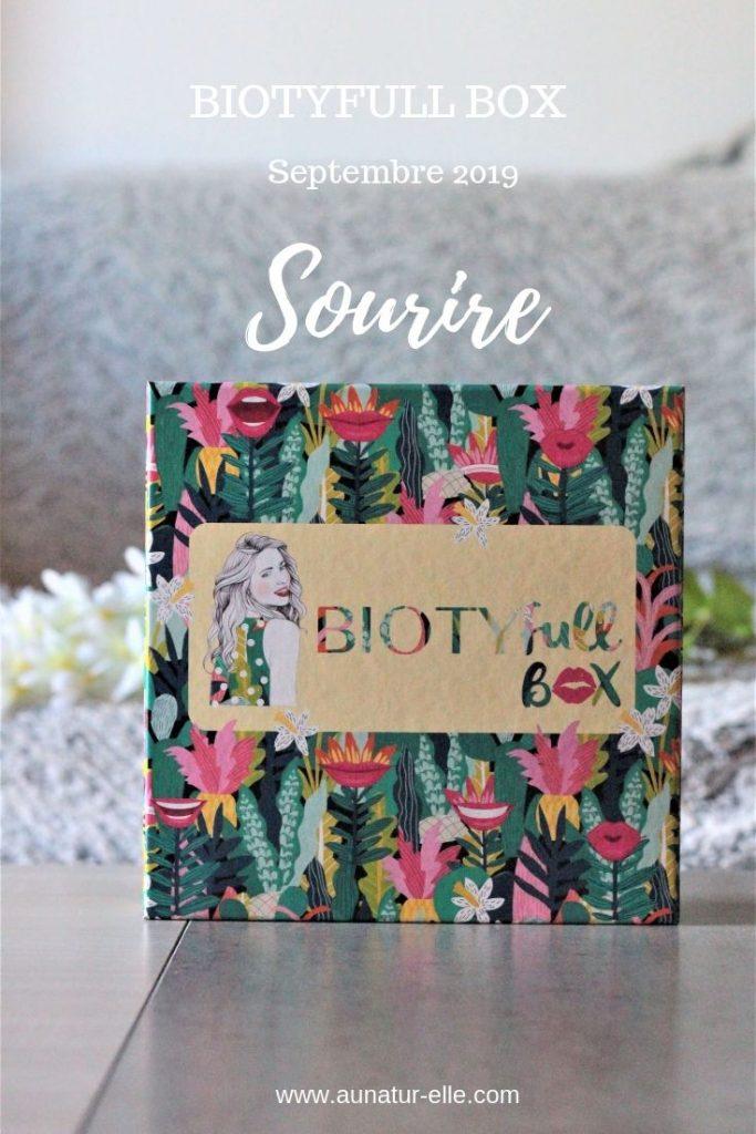 Mon avis sur la box beauté naturelle Biotyfull box de septembre 2019. Aunatur-elle, blogueuse beauté naturelle et bio de Bordeaux