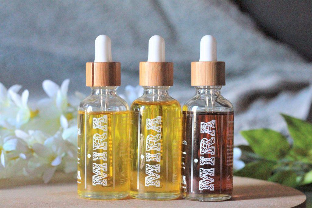 Mon avis sur les huiles végétales de la marque Mira. Aunatur-elle, blogueuse beauté naturelle
