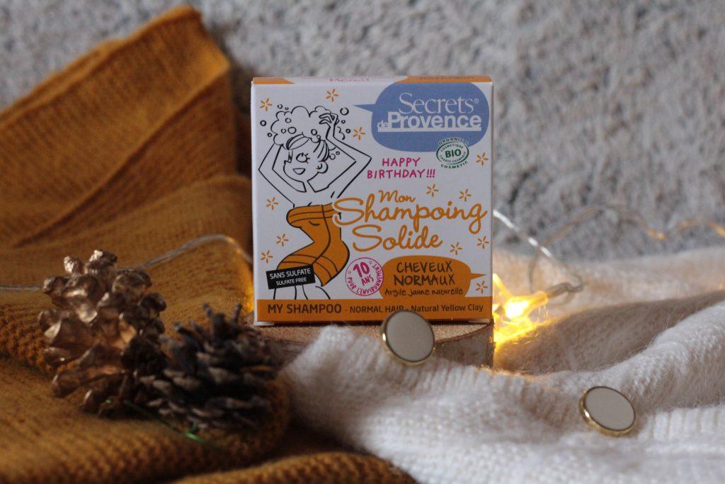 Shampoing solide - Secrets de Provence. Biotyfull box octobre 2019