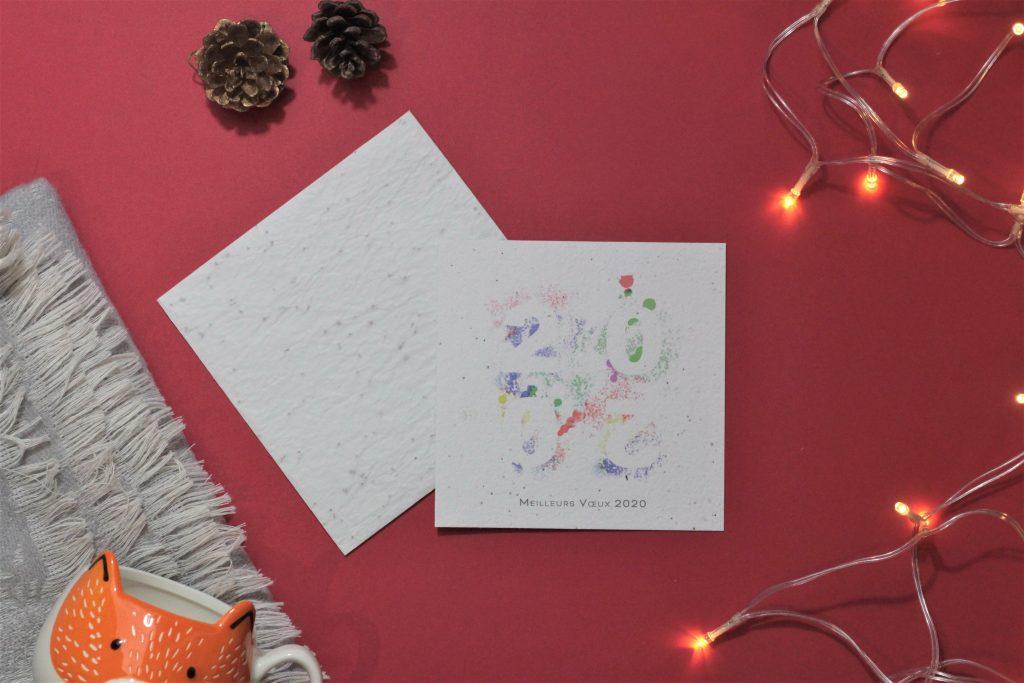 Carte de Noel zéro déchet ensemencé