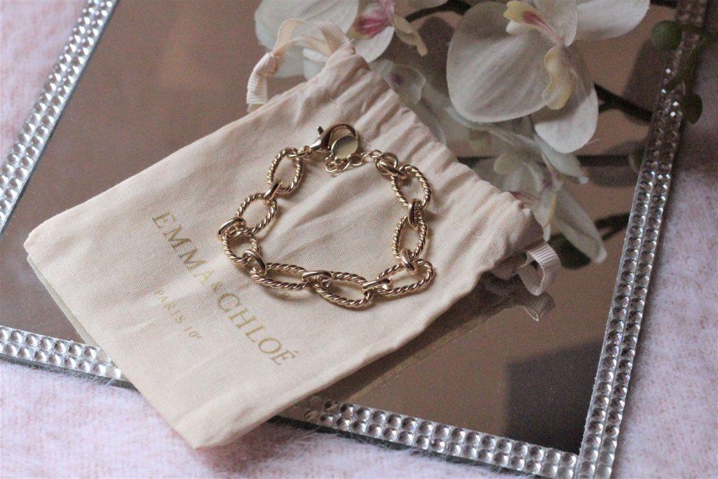 box emma et chloé, bracelet doré agathe