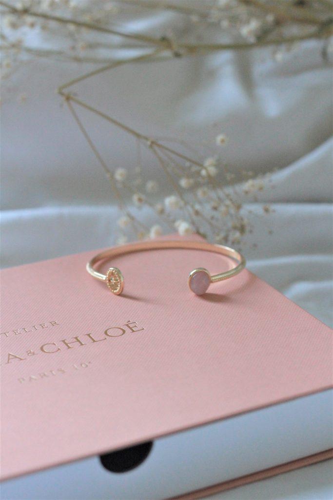 bracelet jonc doré emma et chloé