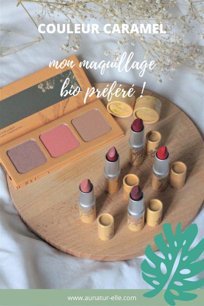 couleur caramel mon maquillage bio préféré