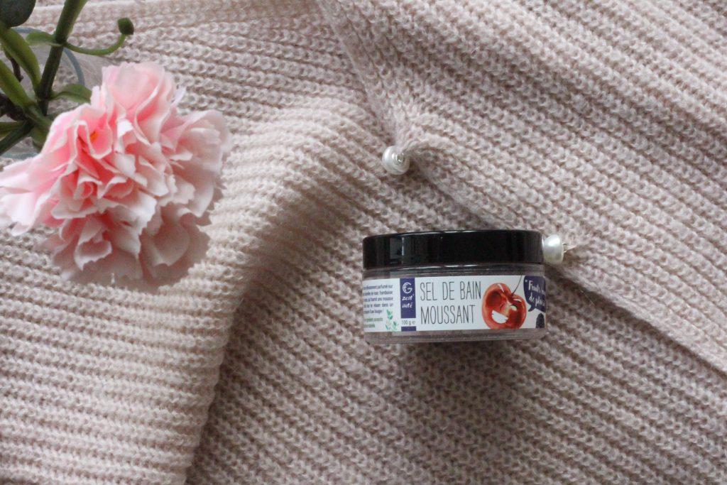 sel de bain moussant - gommage corps- FG cosmetique